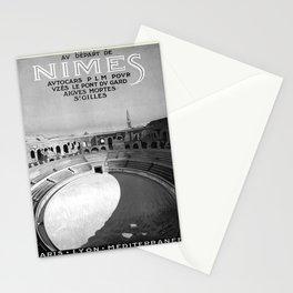 retro noir et blanc Nimes Stationery Cards