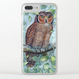 Forest Owl Clear iPhone Case