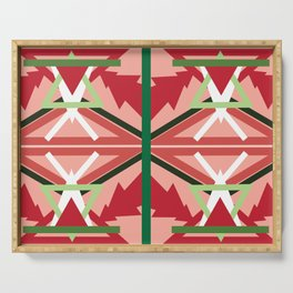 Holiday Pattern Serving Tray