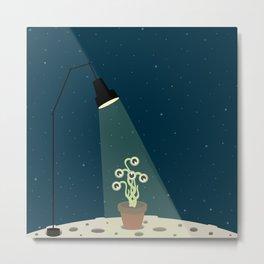 Flowerpot moon Metal Print