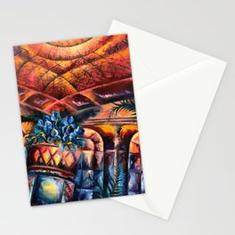 """""""Palm Court"""" Painting Stationery Cards"""