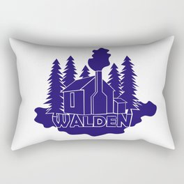 Walden - Henry David Thoreau (Blue version) Rectangular Pillow