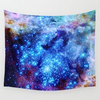 nasa Wall Tapestries featuring galaxy by 2sweet4words Designs