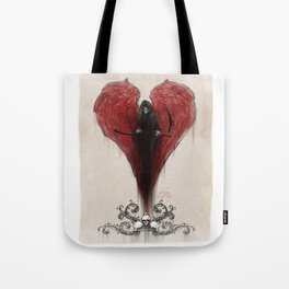 Love Kills; or at least makes you very uncomfortable Tote Bag