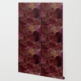 Rose, Burgundy and Merlot Watercolor Flowers Wallpaper