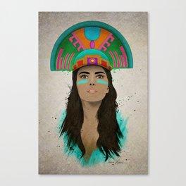 aztec princess  Canvas Print