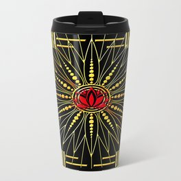 Lucky Lotus (red) Travel Mug