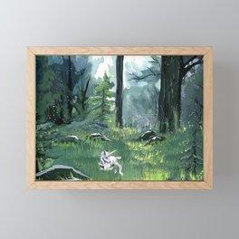 Unicorn Foal Framed Mini Art Print