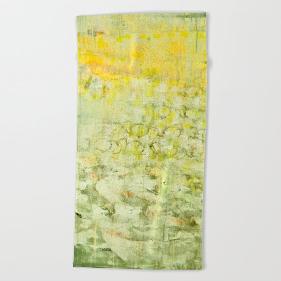 yellow greens Beach Towel