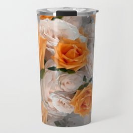 CORAL ROSES AND CHERRY BLOSSOMS Travel Mug