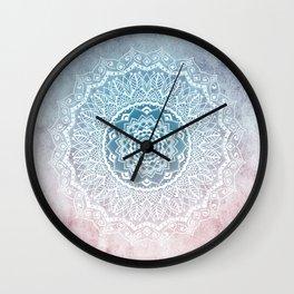 VINTAGE SPRING LACE MANDALA Wall Clock