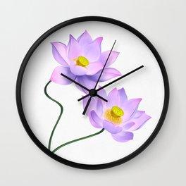Thamarai, Yellow Flower, Floral Pattern, Yellow Blossom Wall Clock