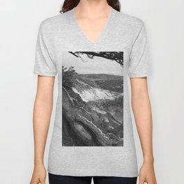 Yellowstone River At Lava Creek Unisex V-Neck