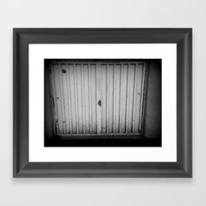Shaded Gate Framed Art Print