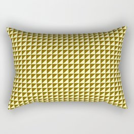 Ocre Triangulate Rectangular Pillow