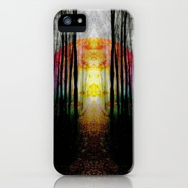Rainbow Path To Imagination iPhone Case