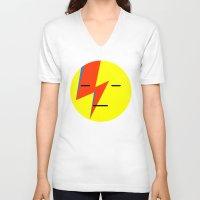 emoji V-neck T-shirts featuring bowie emoji by Koovox