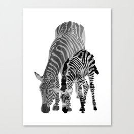 Striped Love (black and white) Canvas Print