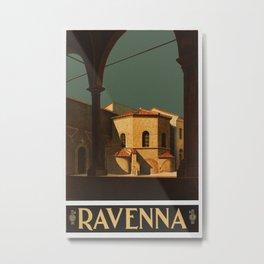 Ravenna Italy - Vintage Travel Ad Metal Print