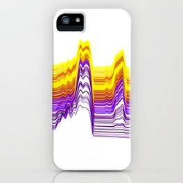Fe Lines in Neon Colors iPhone Case