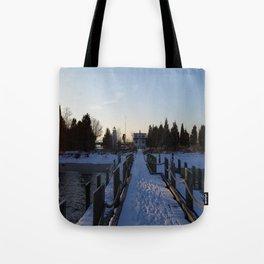Ocean Snow Tote Bag