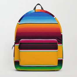 Traditional Mexican Serape in Yellow Multi Backpack