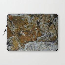 Cornish Headland Cracked Rock Texture with Lichen Laptop Sleeve