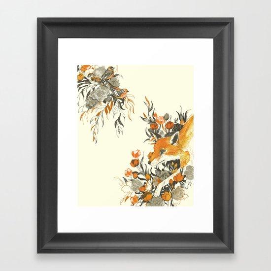 fox in foliage Framed Art Print