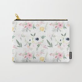 In Bloom Modern Floral Pattern Carry-All Pouch