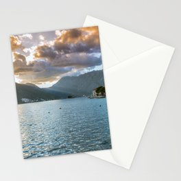 Sunset over Perast Stationery Cards