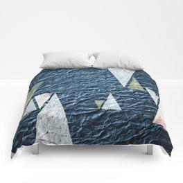 Abstract Indigo No.2 Comforters
