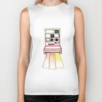 polaroid Biker Tanks featuring Polaroid by Ilariabp.art