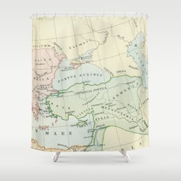 Old Map of The Roman Empire Shower Curtain