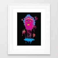 medusa Framed Art Prints featuring Medusa by Mario Sayavedra