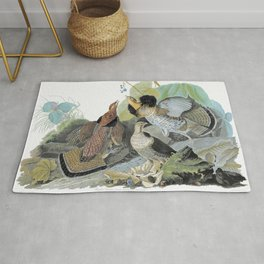 Ruffed Grouse - John James Audubon Rug