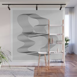 ''Dove Collection'' - Minimal Letter B Print Wall Mural