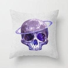 Cosmic Skull Throw Pillow
