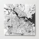 Amsterdam Map Gray by hubertroguski