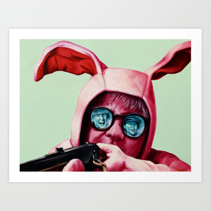 I'll shoot your eyes out Art Print