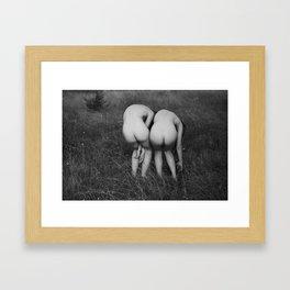 Nude Women in the Field Framed Art Print