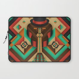 Geometric Guitar Laptop Sleeve