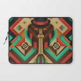 Geometric Guitar Laptop Sleeve