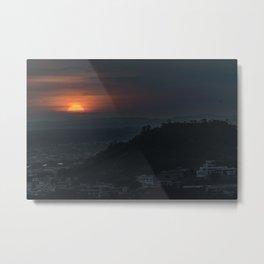 Guayaquil Aerial Landscape Sunset Scene Metal Print