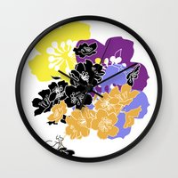 hawaii Wall Clocks featuring hawaii by Wyldbloom