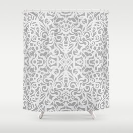 Floral Abstract Damasks G17 Shower Curtain