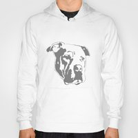 pitbull Hoodies featuring COACH - GREY by Kirk Scott