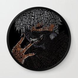 Kaneki Typography Wall Clock