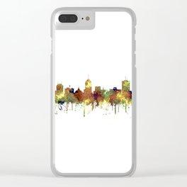 Fresno, California Skyline SG - Safari Buff Clear iPhone Case