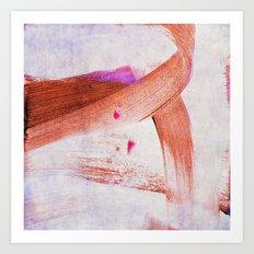 brush strokes purple orange Art Print