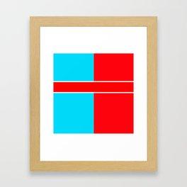 Team Colors 6..red,light blue Framed Art Print